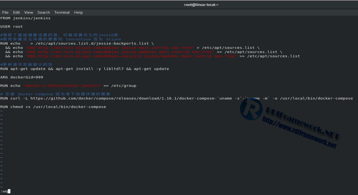 構建自定義的Dockerfile