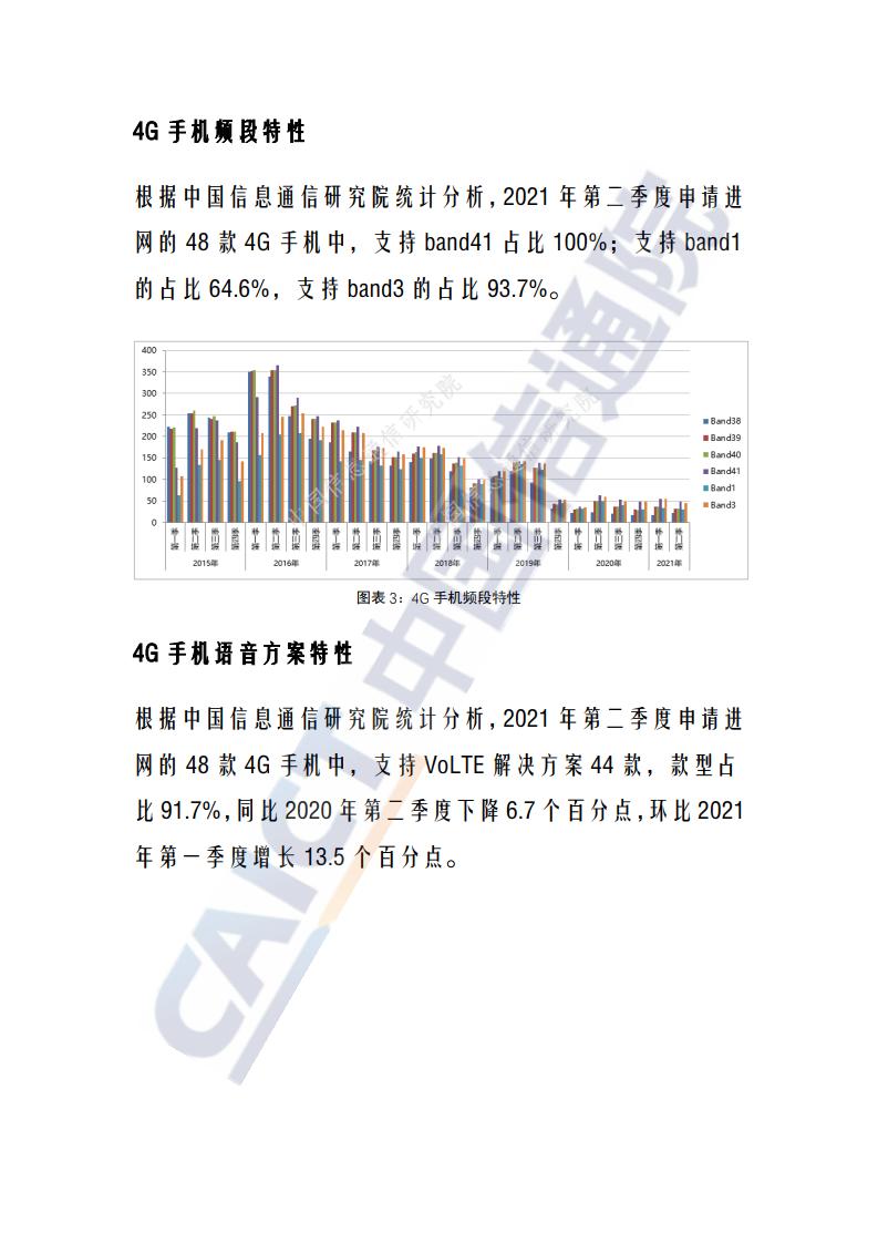 中國信通院:2021年第二國內手機產品通訊特性與技術能力監測報告