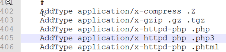 這裡新增訊息含義是要能夠解析php3、phtml這裡是將新增的這兩種字尾按照php檔案解析
