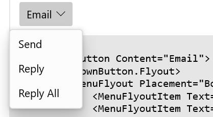 WinUI 3學習筆記(3)—— ComboBox & DropDownButton & SplitButton