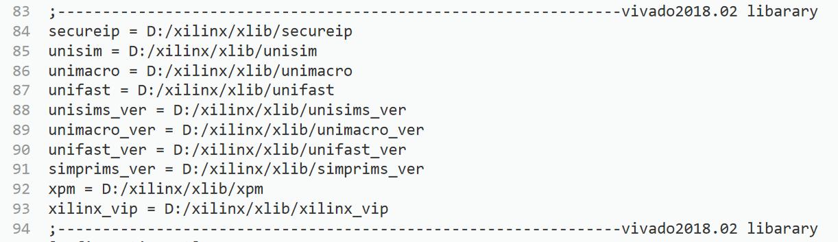 modelsim 獨立模擬vivado的IP核及模擬指令碼
