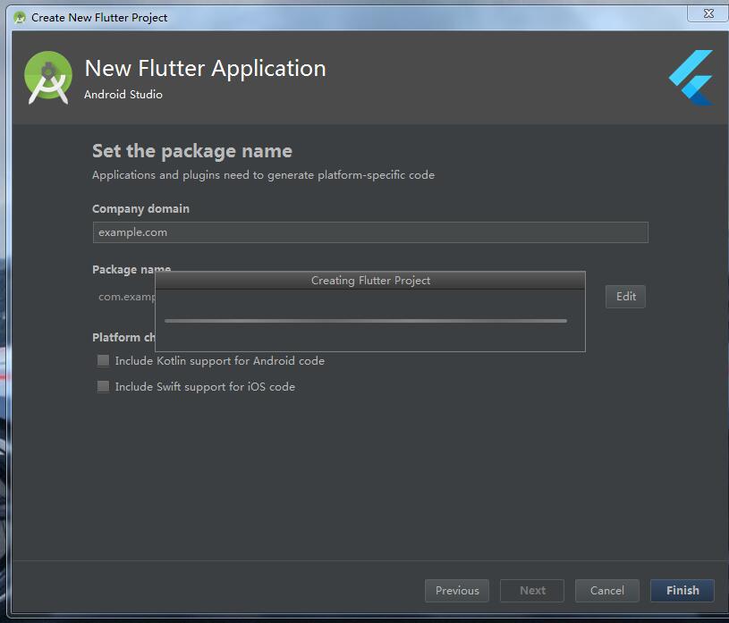 Flutter建立專案一直進不去