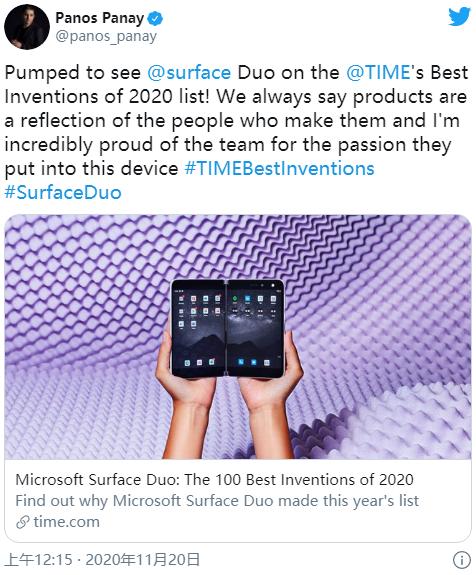 《時代》:2020年全球最佳發明 微軟Surface Duo與次世代主機入選