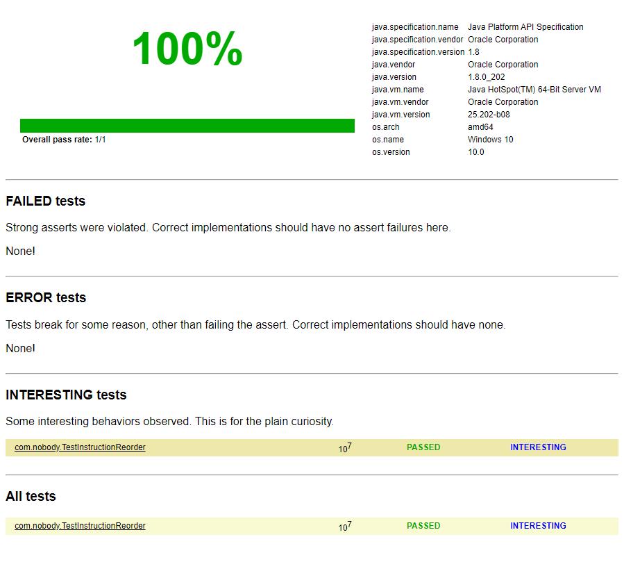 Java高併發測試框架JCStress