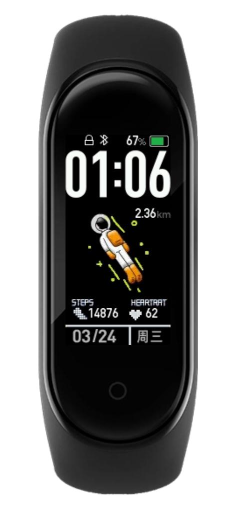 小米手環4自定義太空人錶盤