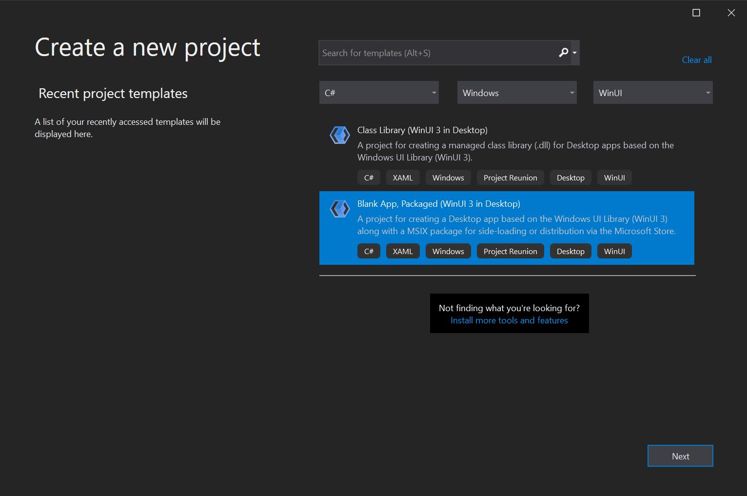 WinUI 3學習筆記(1)—— First Desktop App