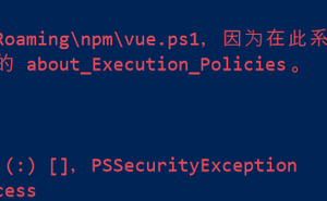 Jou 的解決方案系列:vue 無法載入檔案,Windows 系統禁止執行指令碼