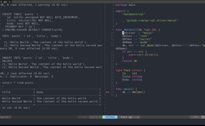 用 golang 原生 sql 對 MySQL 進行 curd