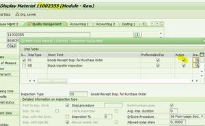 「SAP技術」 SAP MM 已啟用質檢物料建立PO時候'STOCK TYPE'沒有預設為X?