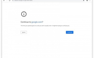 Google Chrome瀏覽器開始阻止令人困惑的URL網址