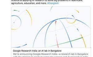 谷歌宣佈建立印度研究院,劈柴哥的推特被印度裔程式設計師刷屏了