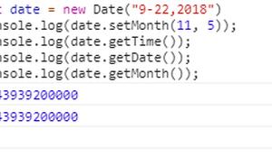 JavaScript setMonth()