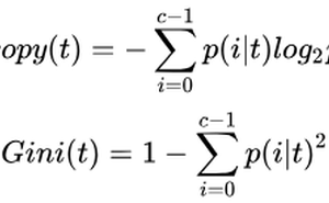 SKlearn中分類決策樹的重要引數詳解